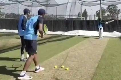 ashwin uses innovative technique against klrahul at nets video