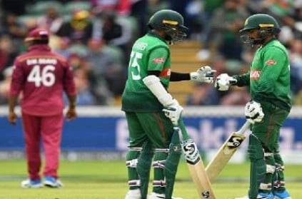 Bangladesh won West Indies by 7 wickets in world cup