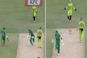 Bizarre VIDEO! Batsman Takes Single Run During BBL 2020 Match With Ball Hidden in Sweater