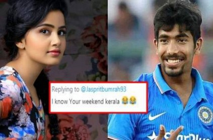 Bumrah says thoughts are secret, followers tag Premam actress