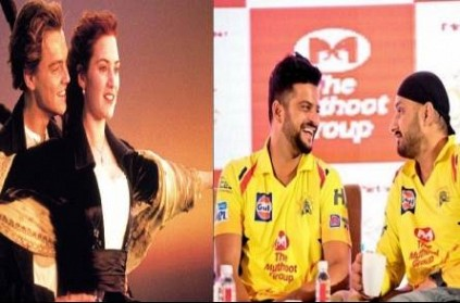 CSK reacts to Harbhajan and Raina\'s Titanic pose birthday post