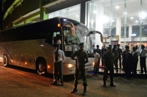 Fans hold up Sri Lanka cricket team bus after ODI defeat vs India