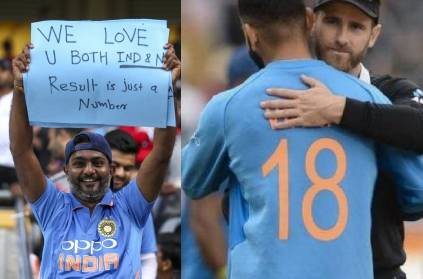 IndvsNZ 4th T20I fan displays unconditional love. Pic here