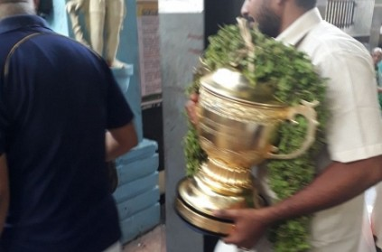 IPL trophy taken to famous temple in Chennai for blessing