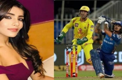 ishankishan girlfriend aditihundia reacts after he hit six cskvmi