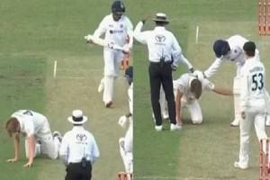 VIDEO : Jasprit Bumrah Hits Cameron Green on The Head During Match; Mohammed Siraj Runs to Help