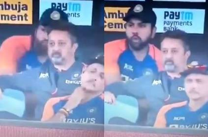 Rohit Sharma caught eating during match netizens tease