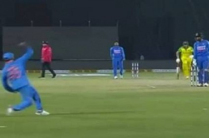 Rohit Sharma does fake fielding umpires fail to notice indvaus