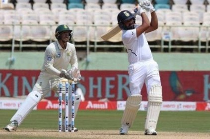 Rohit Sharma hits 100 as Test opener in India vs South Africa