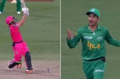 Sandeep Lamichhane Seb Gotch misjudge Ball During BBL video