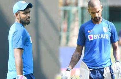 Sanju Samson may replace Shikar dhawan in WI series