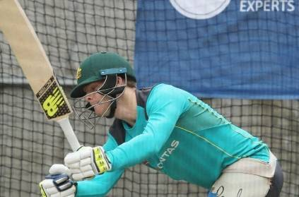 Steve Smith practicing in Australian nets struggles against Starc