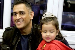 MS Dhoni attends daughter's school function, Ziva looks adorable