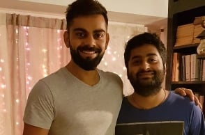 Virat Kohli's 'Fanboy Moment' with playback singer Arijit Singh