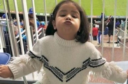 Ziva Dhoni makes her world cup debut; photos go viral!