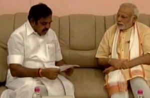 Tamil Nadu CM meets PM Modi