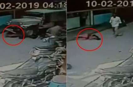 Accident in karnataka caught on cctv camera