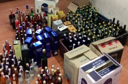 1192 liquor bottles ceased in TN ramanthapuram kamudhi