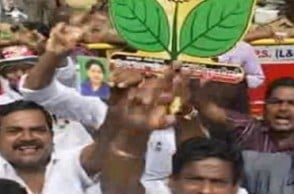 AIADMK cadres stage dharna after EC accepts Vishal's nomination