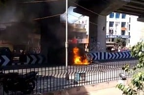 Chennai: Car catches fire at busy petrol bunk