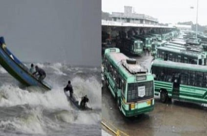 cyclone nivar tamilnadu to suspend bus train services from 1 pm
