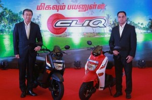 Honda Cliq scooter launched in TN at a price of Rs 44,524