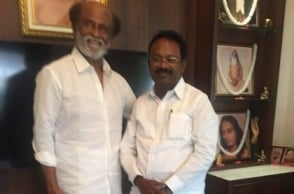 Top politician meets Rajinikanth