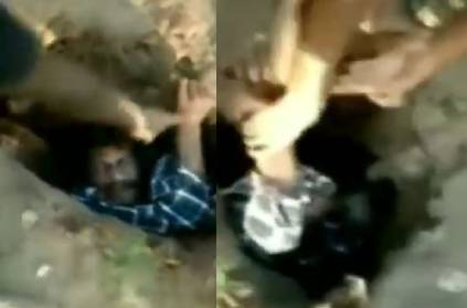 Man jumps into a hole and the video is going viral
