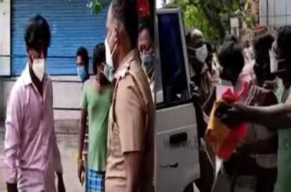 man refuses to board police jeep in chennai arumbakkam viral