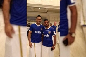 MS Dhoni celebrates Pongal, rocks in Dhoti