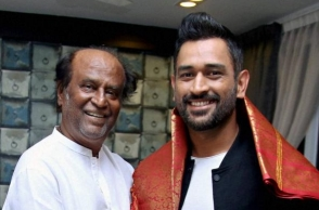 MS Dhoni to meet Rajinikanth