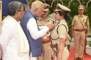 Remember DIG Roopa? She has received a prestigious medal