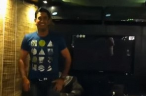 WATCH: Dhoni's latest dance moves, Sakshi can't stop laughing to it