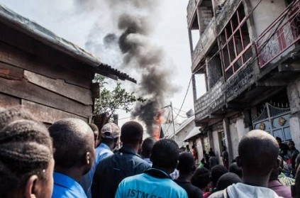 29 dead as Congo plane crashes into homes in Goma