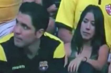 Man Caught Kissing During Live Football Match Video Goes Viral