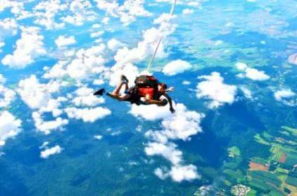 Woman falls from sky after parachute fails to open during skydiving