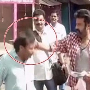 Telugu Superstar Balakrishna slapping his assistant controversy video