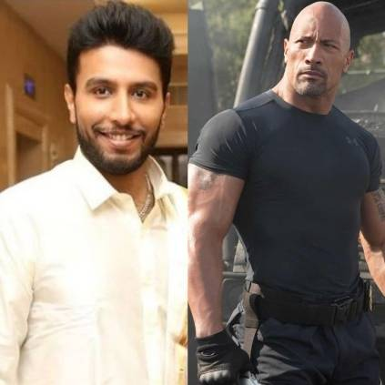 Actor Shiva Kumar imitates WWE star Dwayne 'The Rock' Johnson on the latter's birthday