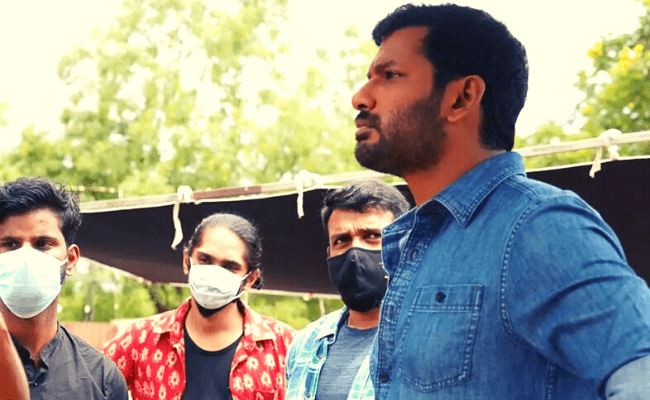 Actor Vishal severely injured at shooting spot again; here's what happened; viral video