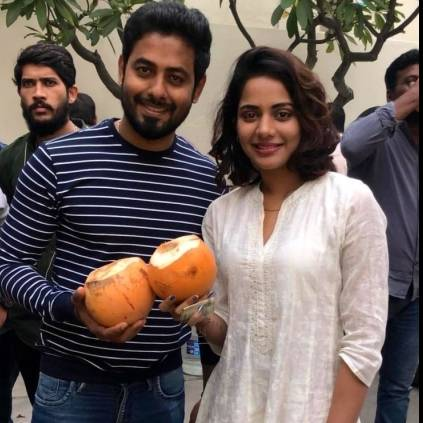 Actor's Aari's organic act in the sets of movie 'Aleka'