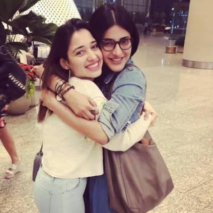 Actress Tamannaah reveals Shruti Haasan is her Partner in Crime