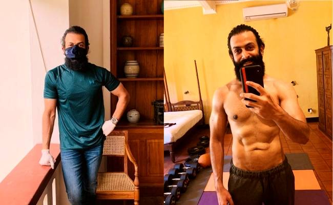 After testing negative for Covid 19, Prithviraj is busy with this, shares pic