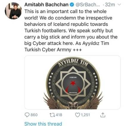 Amitabh Bachchan's twitter account gets hacked and is now recovered