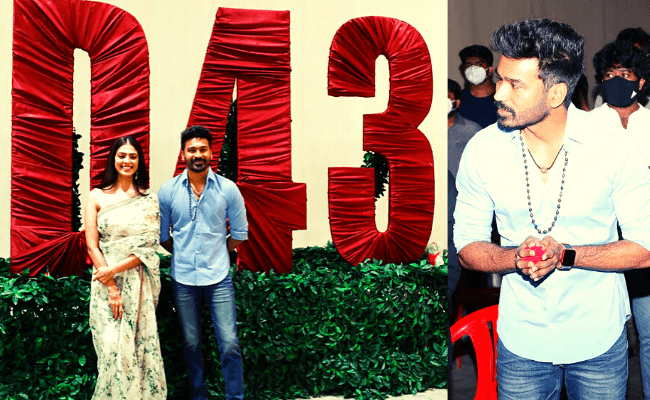 An exciting update from Dhanush and Malavika Mohanan's D43, pic goes viral