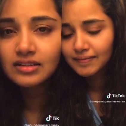 Anupama Parameswaran's dubsmash of Kaathale Kaathale 96 song