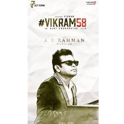 AR Rahman to compose music for Ajay Gnanamuthu's Vikram 58