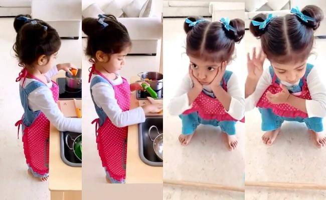 Asin's daughter Arin cute quarantine cooking, lockdown feels viral pics