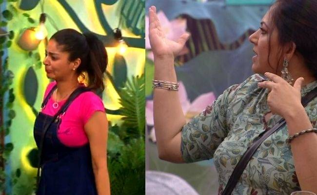 Bigg boss tamil 4 Sanam Shetty cries because of Archana, Bala