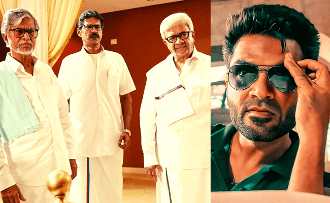 Brand new political stills from STR's Maanaadu are going viral ft SJ Suryah, SA Chandrasekhar