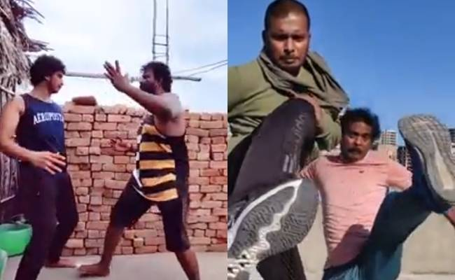 Browser Title: Stunt masters and artists of Tamil cinema create action video for Corona awareness